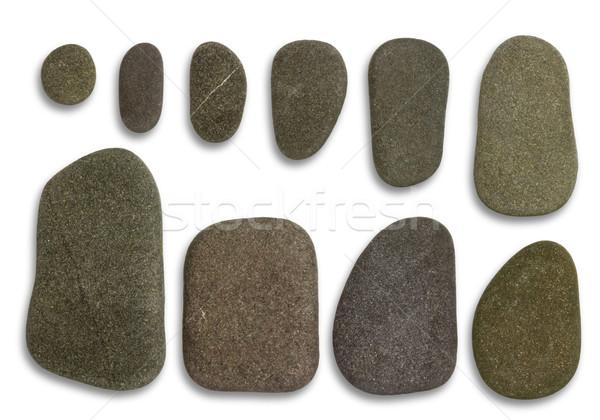flat pebbles arrangement Stock photo © prill
