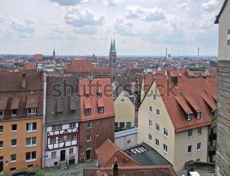 Igreja urbano arquitetura telhado panorama Foto stock © prill
