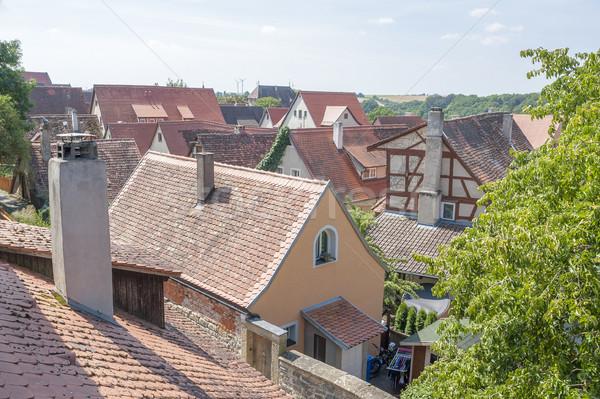 Magasról fotózva kilátás város középső ház építészet Stock fotó © prill