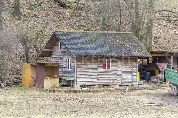 Stock photo: rural wooden shed