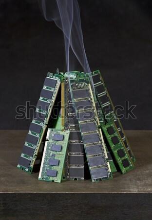 Brennen Widder zufällig zugreifen Speicher Stock foto © prill
