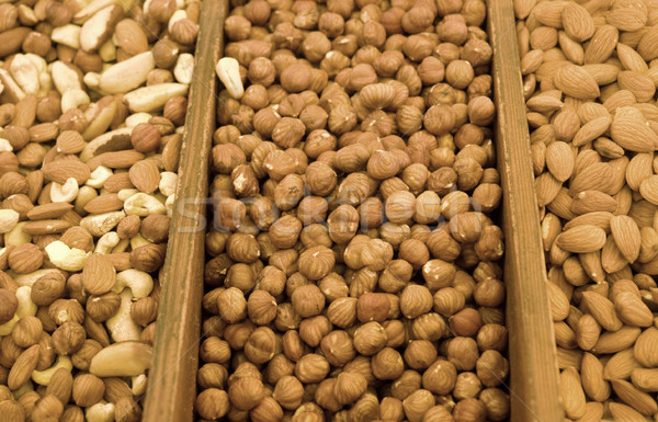 lots of sorted various nuts Stock photo © prill