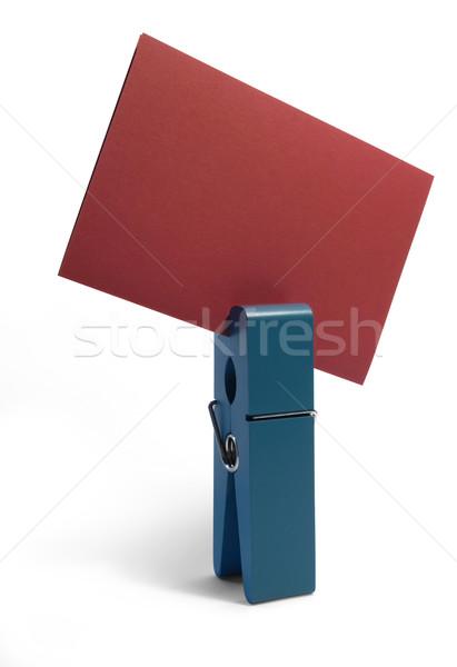 青 ペグ 赤 カード スタジオ 写真 ストックフォト © prill