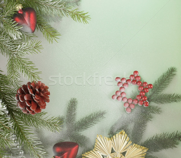 Stock photo: decorative christmas back