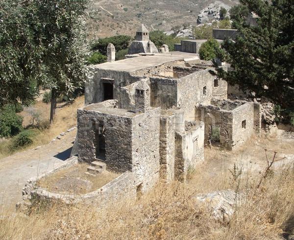 old cloister at Preveli in Crete Stock photo © prill