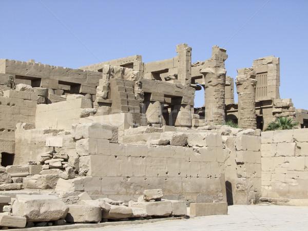 sunny scenery around Precinct of Amun-Re Stock photo © prill