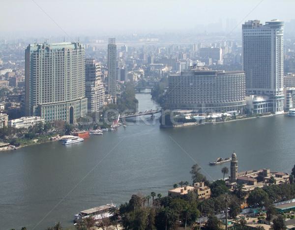 Каир туманный реке город строительство Сток-фото © prill