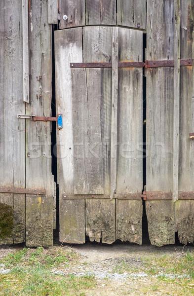 古い 納屋 ドア 詳細 木製 ストックフォト © prill