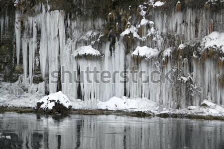 lots of icicles Stock photo © prill