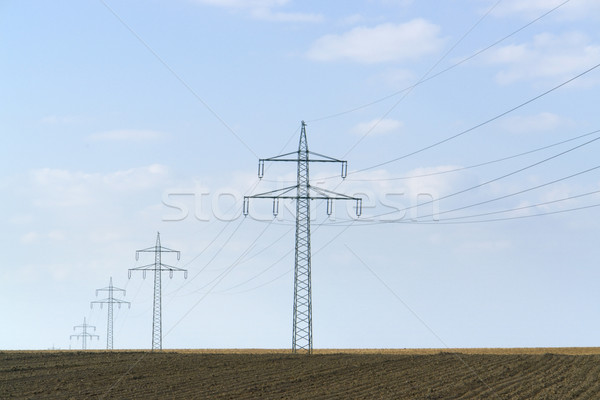 power line in Southern Germany Stock photo © prill