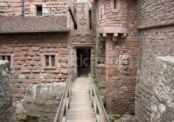 Passage château détail à l'intérieur historique mur Photo stock © prill