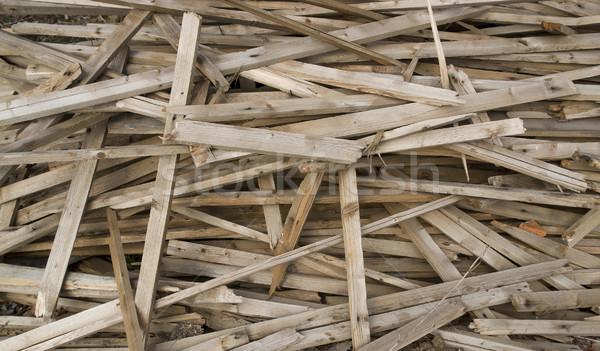 wood shelf chaos Stock photo © prill