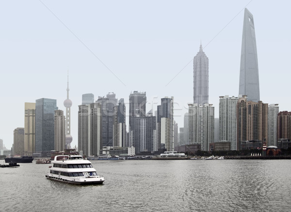 Skyline of Pudong in Shanghai Stock photo © prill