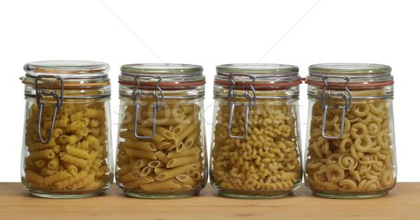 jars with italian pasta Stock photo © prill