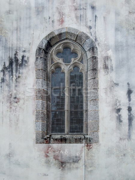 church window at Pont-Aven in Stock photo © prill
