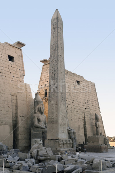 Luxor tempel Egypte oude afrika Stockfoto © prill