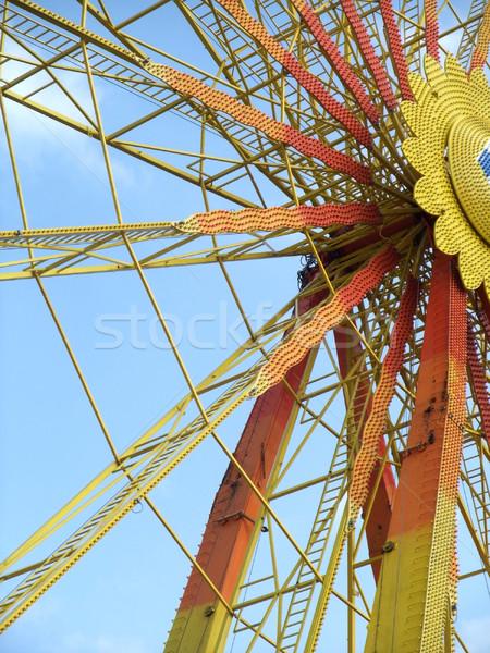 Büyük tekerlek detay renkli Stok fotoğraf © prill