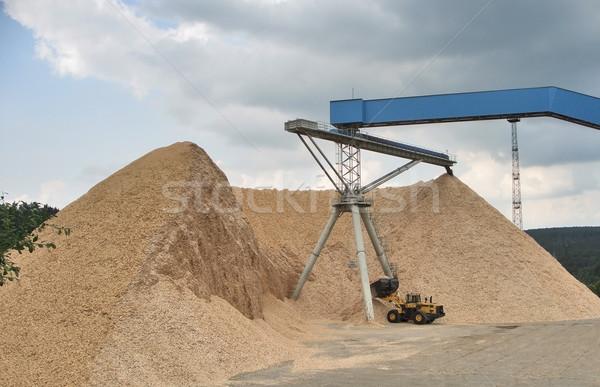 Foto stock: Cascalho · planta · pormenor · grande · homem · indústria