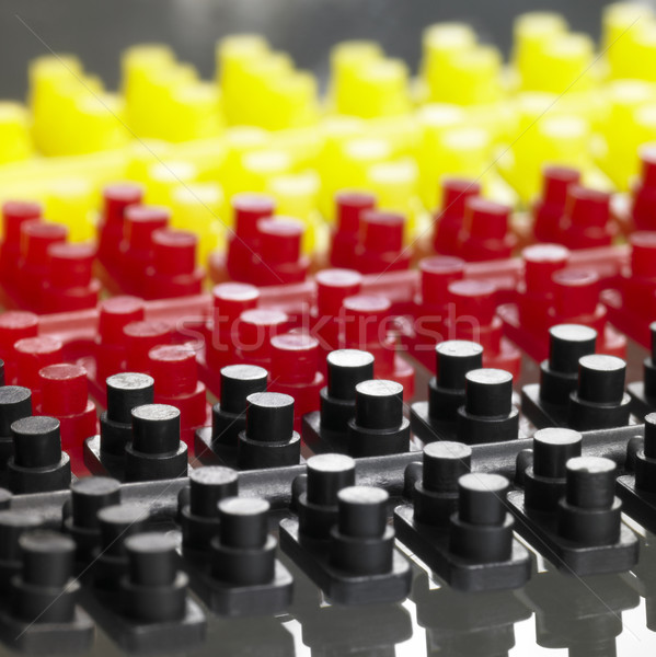 injection molded plastic pieces Stock photo © prill