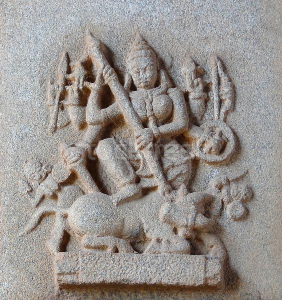 temple detail around Hampi Stock photo © prill
