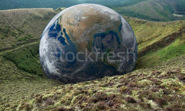 global downfall Stock photo © prill