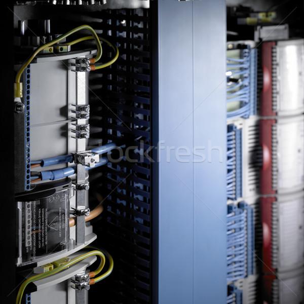 Elektronika részlet elektromos apparátus kábelek technológia Stock fotó © prill