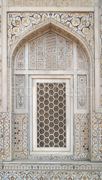 Jali window in Agra Stock photo © prill