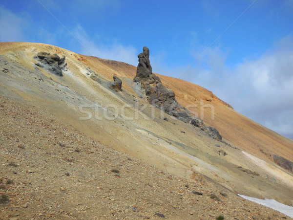 Formation rocheuse Islande montagne paysages paysage Rock Photo stock © prill