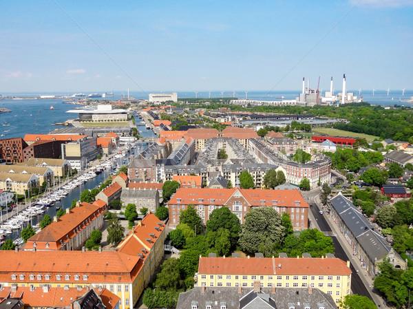 Копенгаген Дания город морем путешествия Сток-фото © prill