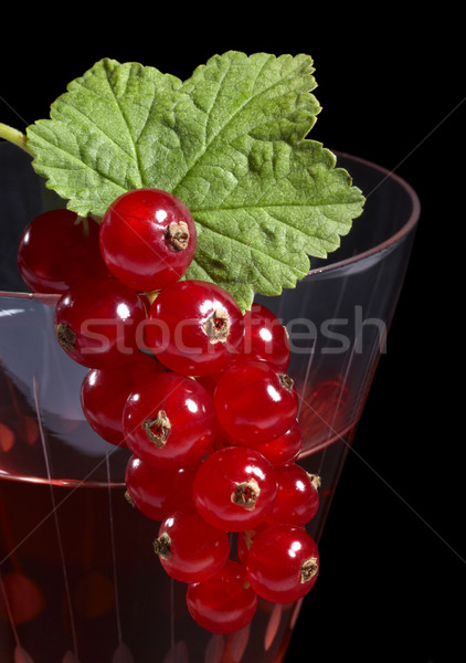 Redcurrant on glass Stock photo © prill