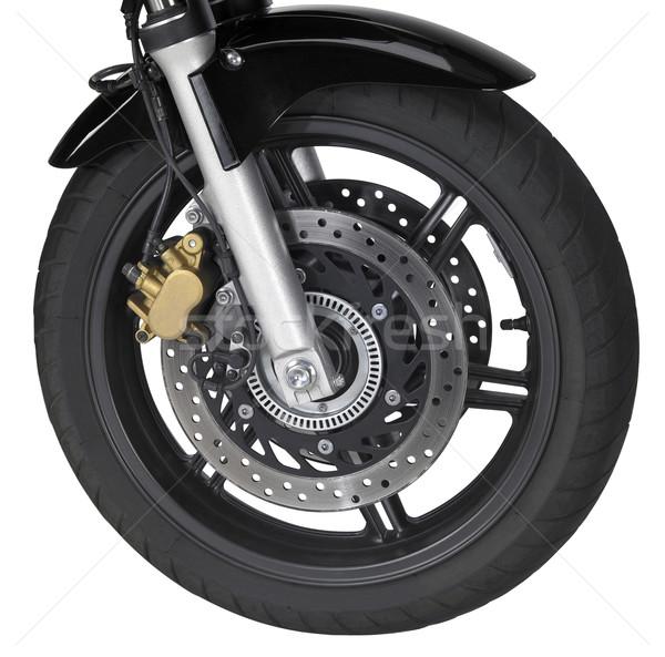 Moto frente rueda aislado blanco Foto stock © prill