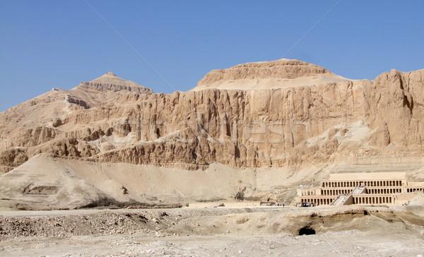 Deir el-Bahri in sunny ambiance Stock photo © prill