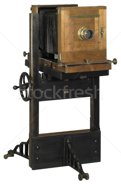 Nostalgisch camera hout houten witte Stockfoto © prill