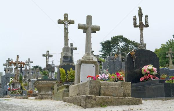 graveyard at Locronan Stock photo © prill