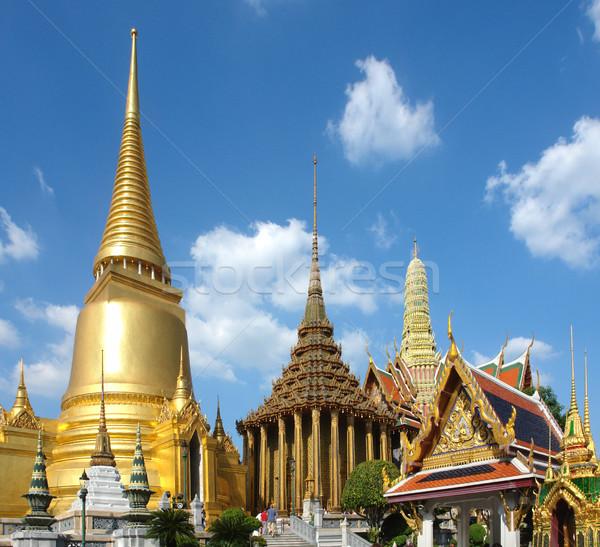 Palazzo Bangkok Thailandia costruzione viaggio oro Foto d'archivio © prill