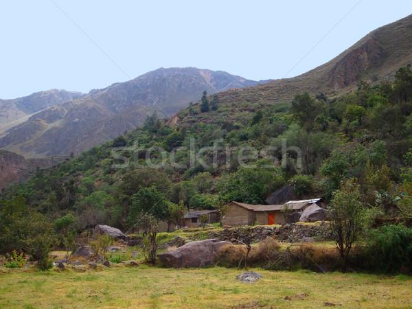 Canyon Perù sud america casa natura verde Foto d'archivio © prill