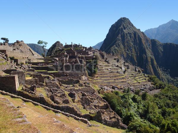 Machu Picchu eski şehir Peru güney amerika dağ Stok fotoğraf © prill