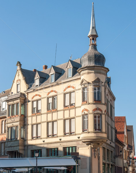 углу дома здании окна каменные башни Сток-фото © prill