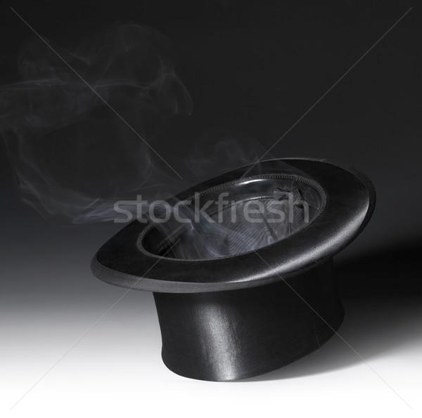 Magia seis cenário preto topo fumar Foto stock © prill
