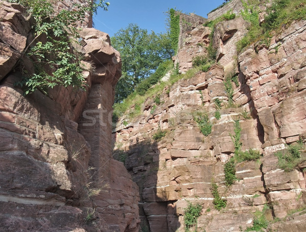 rock formation around Wertheim Castle Stock photo © prill