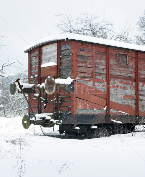 old railway car at winter time Stock photo © prill