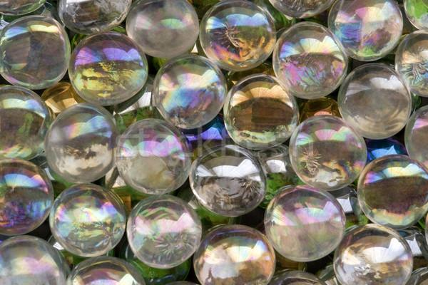 Glas kralen full frame abstract foto donkere Stockfoto © prill