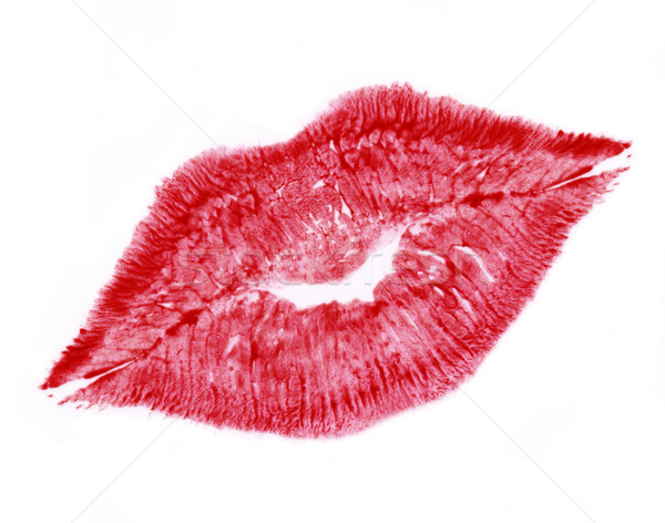 red lip print Stock photo © prill