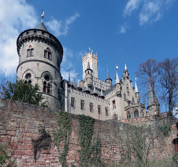 Castelo baixar pedra arquitetura torre medieval Foto stock © prill
