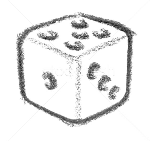 dice icon Stock photo © prill