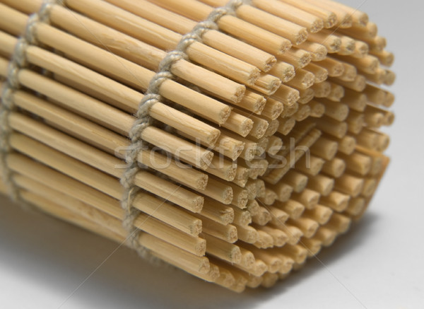 rolled wooden mat detail Stock photo © prill