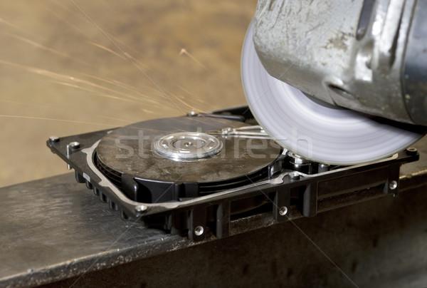 Daráló merevlemez vezetés szög számítógép technológia Stock fotó © prill