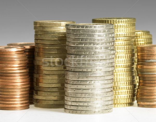 Euro munten studio fotografie munt geld Stockfoto © prill