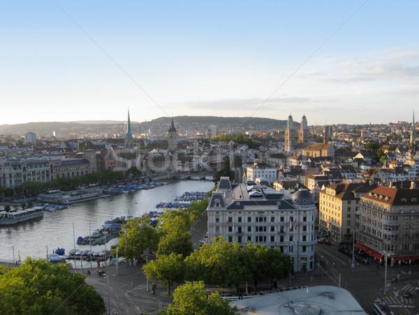 Zurich city view Stock photo © prill