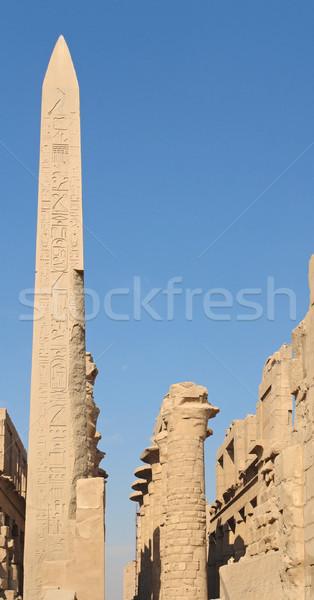 obelisk at Precinct of Amun-Re in Egypt Stock photo © prill